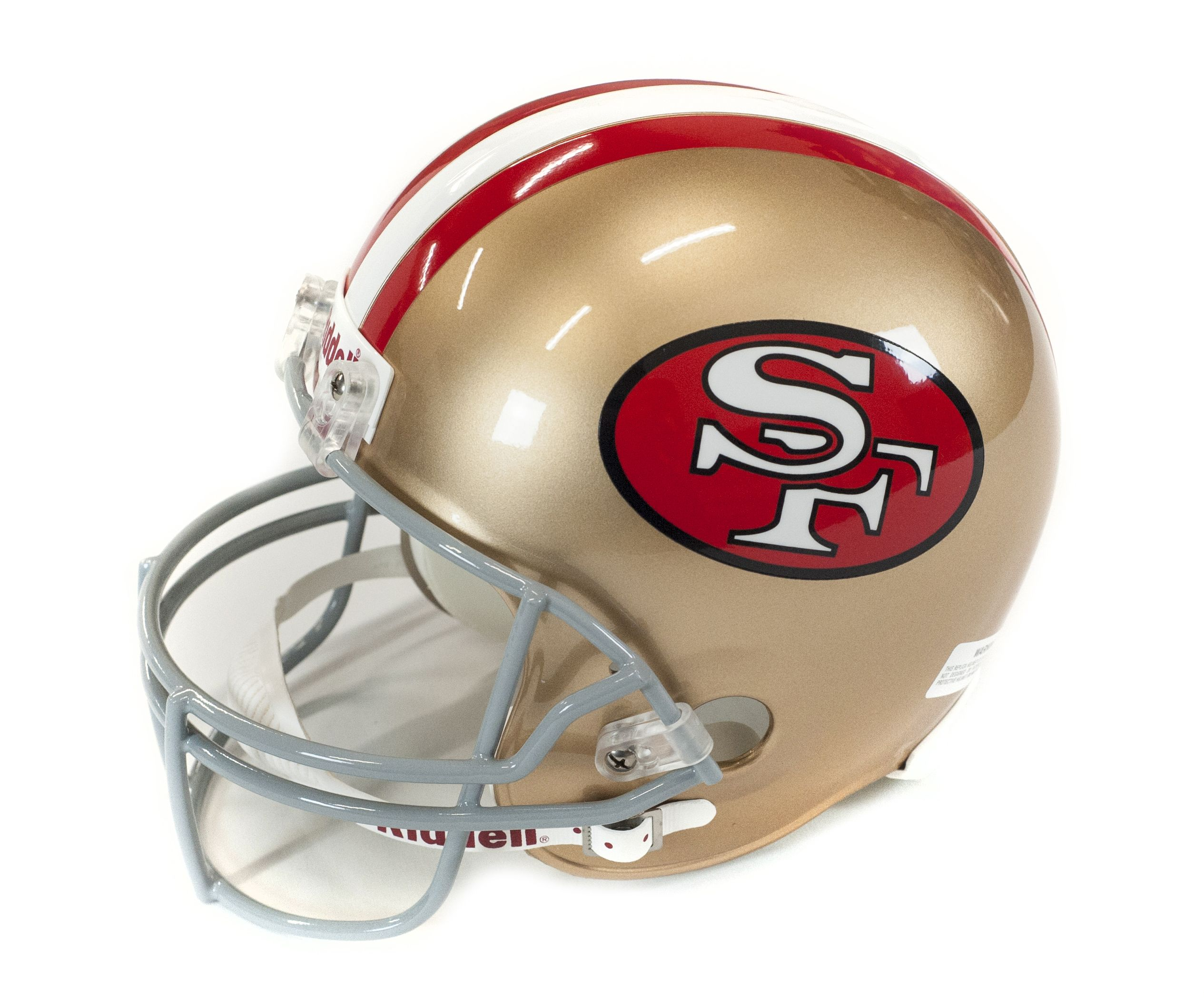 Dual Signed San Francisco 49ers Helmet W  Hand Drawn Play Inscription