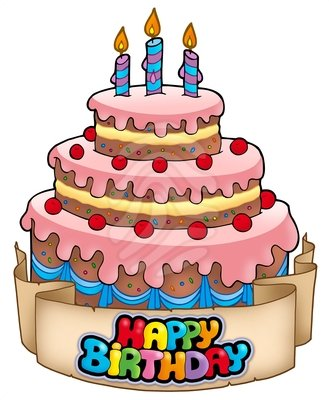Happy Birthday Cake Clipart   Clipart Panda   Free Clipart Images