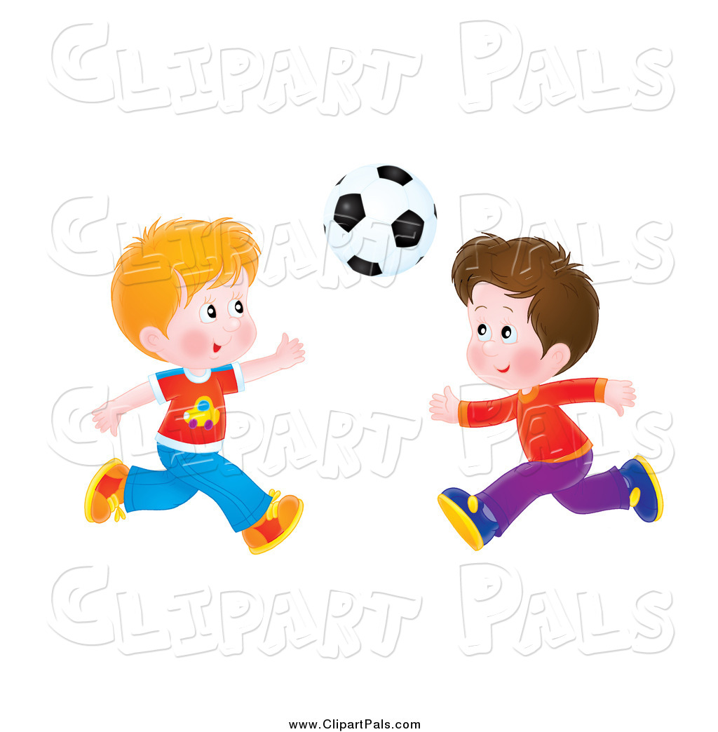 Pal Clipart Of Flushed Boys Playing Soccer By Alex Bannykh    546