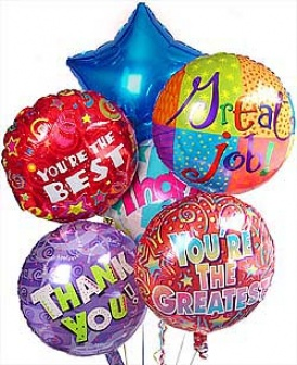 Picture Of Thank You Balloon Bouquet   Images Nation Dot Com