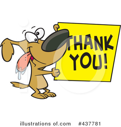 Royalty Free  Rf  Thank You Clipart Illustration By Ron Leishman