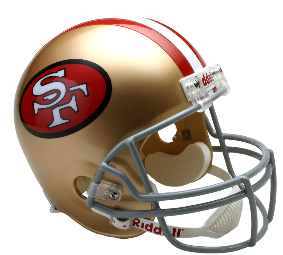 San Francisco 49ers Vsr4 Replica Throwback  64 95  Helmet   San