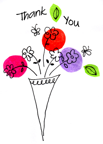 Showing Gallery For Thank You With Flowers Clipart