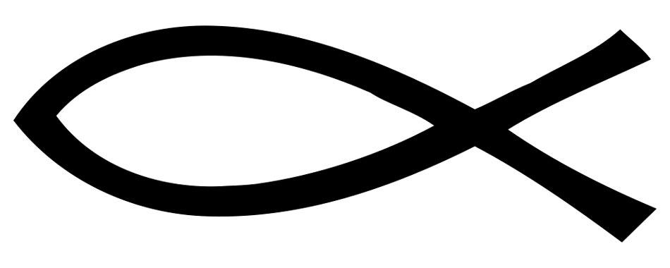 Clip art christian fish symbols clipart clipart suggest for Jesus fish symbol