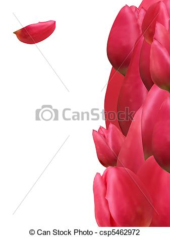 Vector Illustration Of Thank You Card With Bouquet Of Tulip Eps 8
