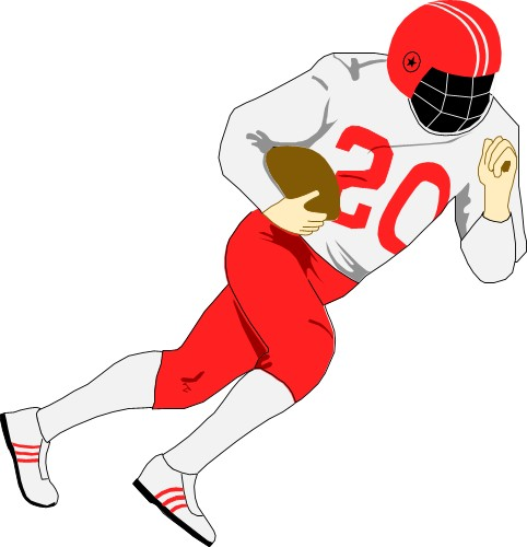 American Football Ball Clipart  American Football Player