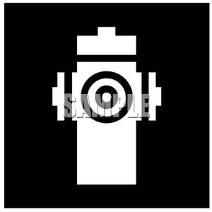 Black And White Fire Hydrant   Royalty Free Clipart Picture