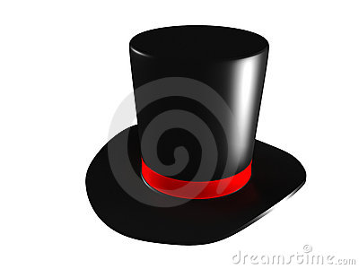 Black Magic Hat On A White Background Royalty Free Stock Photo   Image
