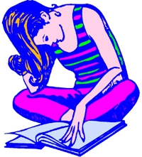 Clipart Of Teen Reading  Copyright   2012 Jupiterimages Corporation