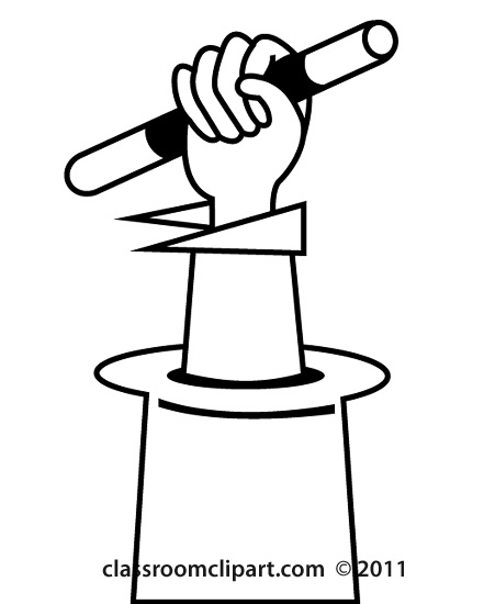 Entertainment   Hat Hand Magic Hat Outline   Classroom Clipart