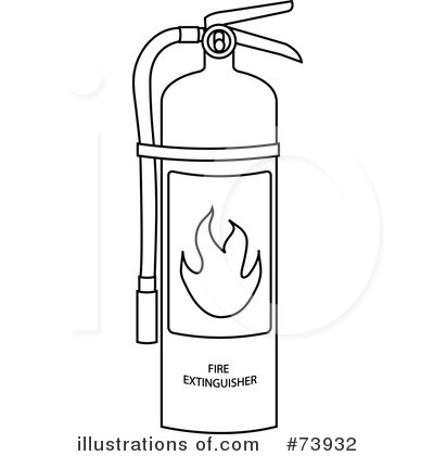 Fire Safety Black And White Clipart Clipart Suggest Extinguisher Coloring Page