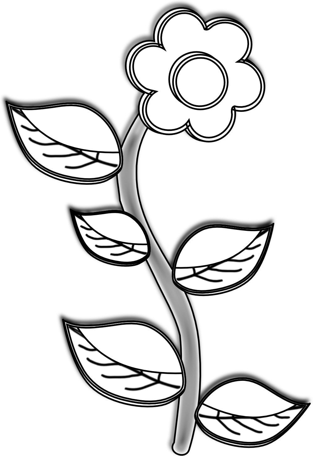 Flower Drawings In Black And