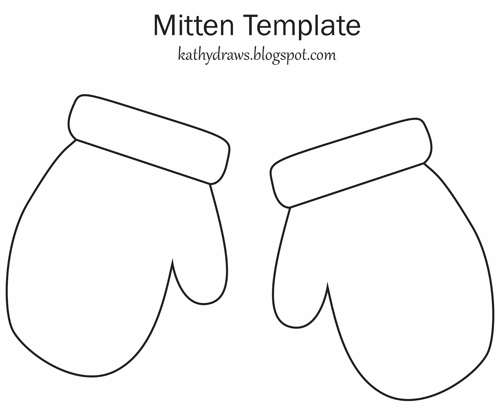 Mitten Outline Cliparts on santa card coloring pages