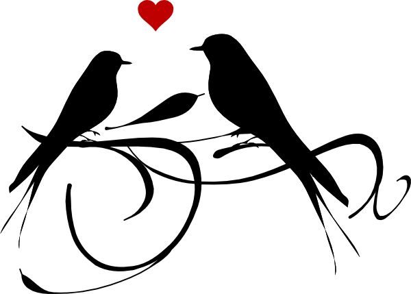 Love Bird Silhouette   Google Search   Clip Art   Printables