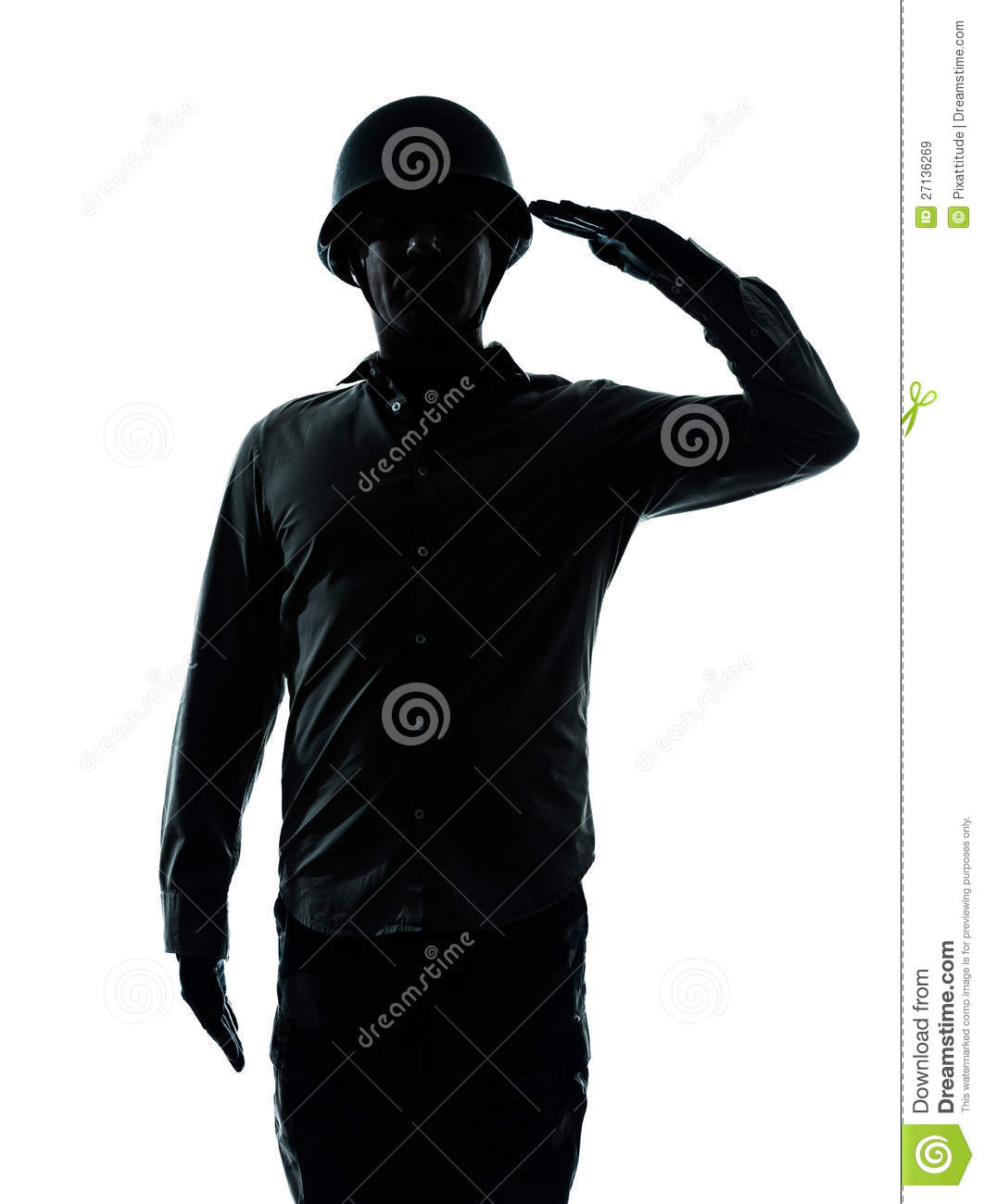 One Caucasian Army Soldier Man Army Soldier Man Saluting On Studio