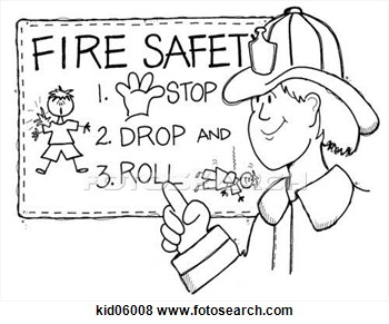 Stock Illustration Of Illustration Of Fireman Reviewing Fire Safety