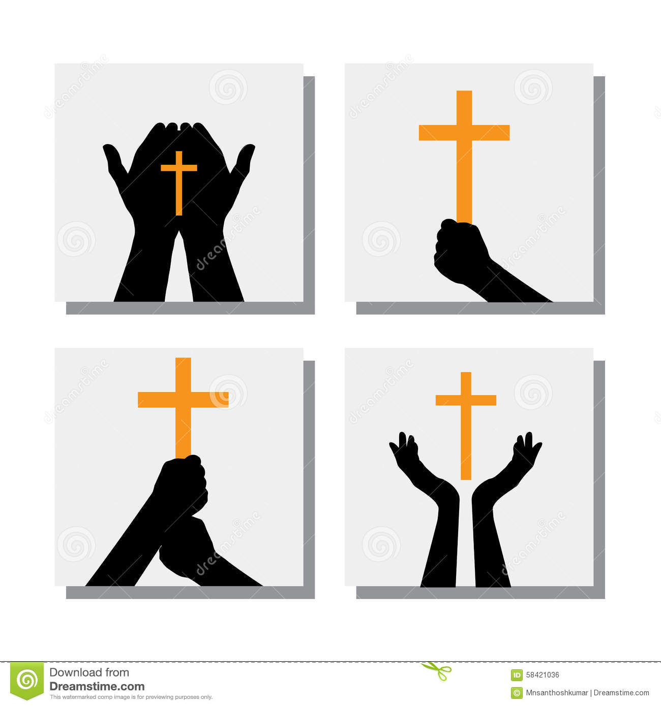 Also Represents People Praying To God Seeking Blessings From Jesus