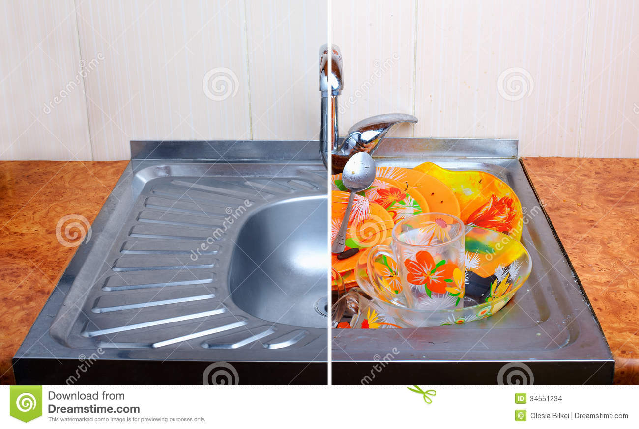 Clean Sink Clipart Comparison Of Clean Sink With