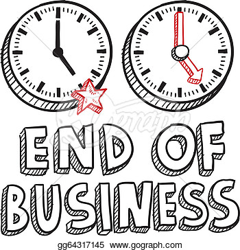 End Of Business Work Day Sketch  Stock Clipart Gg64317145