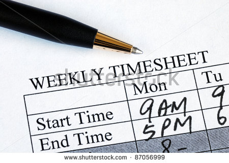 Enter The Weekly Time Sheet Concepts Of Work Hours Reporting Stock