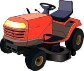 Mowing Lawn Mower Retro Lawn Mower Outlined Lawn Mower Lawnmower With