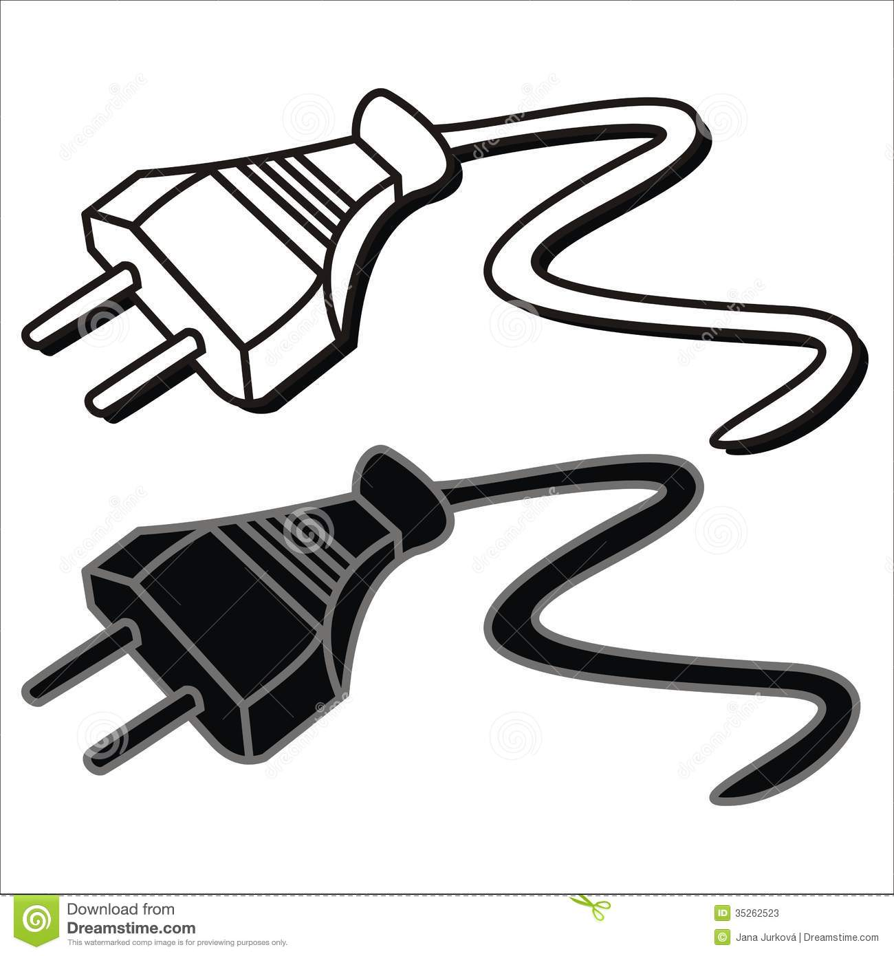 Plug Black And White Clipart - Clipart Suggest