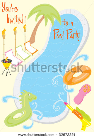Pool Party Clip Art For Kids