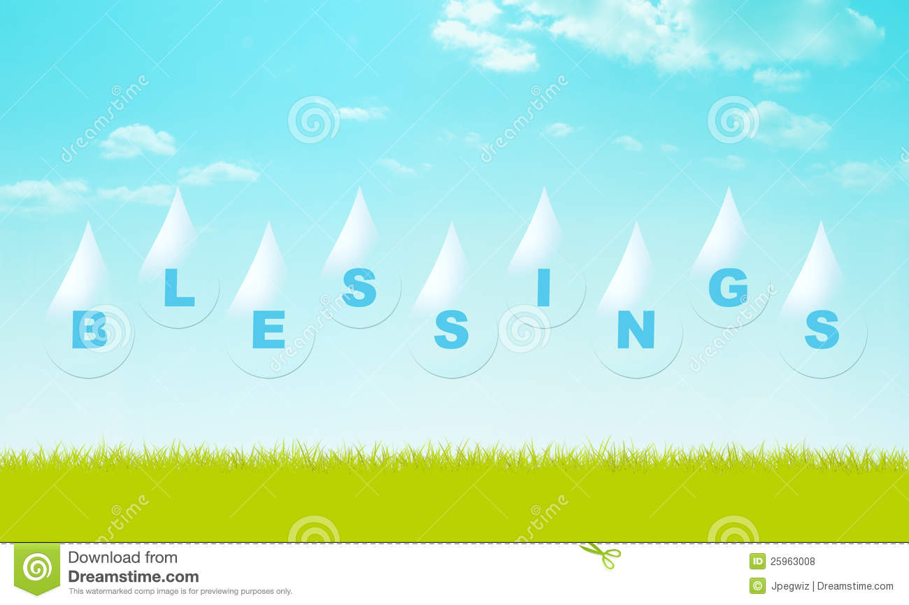 Pour Blessings Royalty Free Stock Photos   Image  25963008