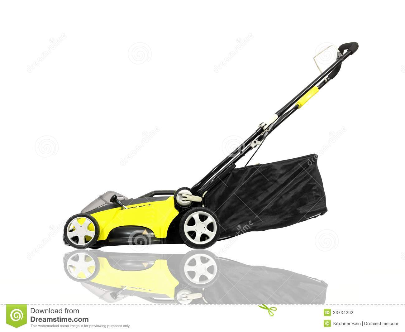 Rechargable Lawn Mower On A White Background Mr No Pr No 0 108 0