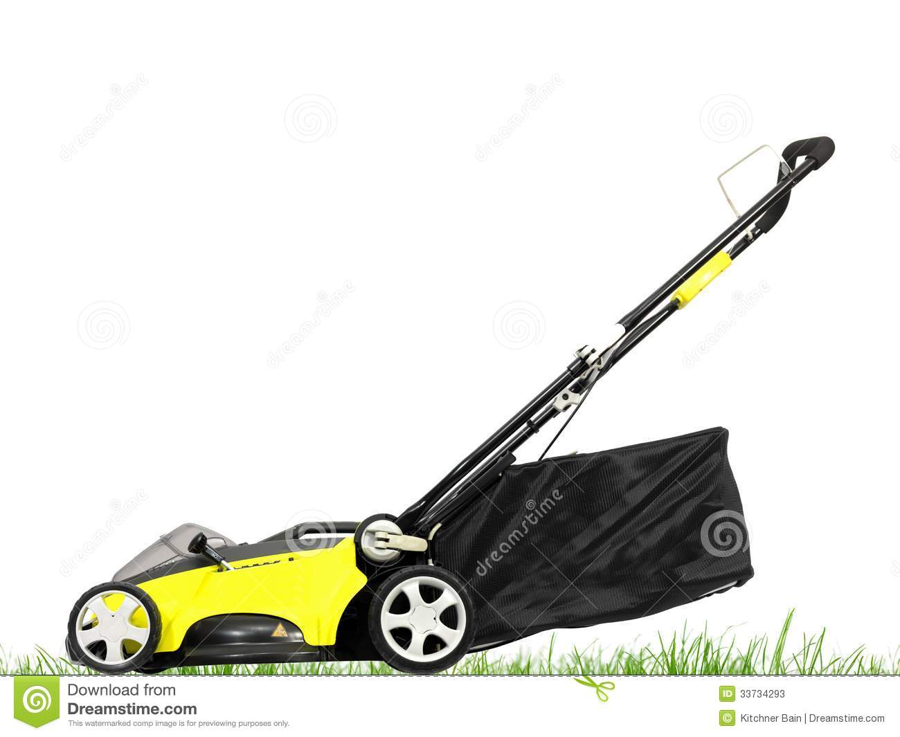 Rechargable Lawn Mower On A White Background Mr No Pr No 0 235 0
