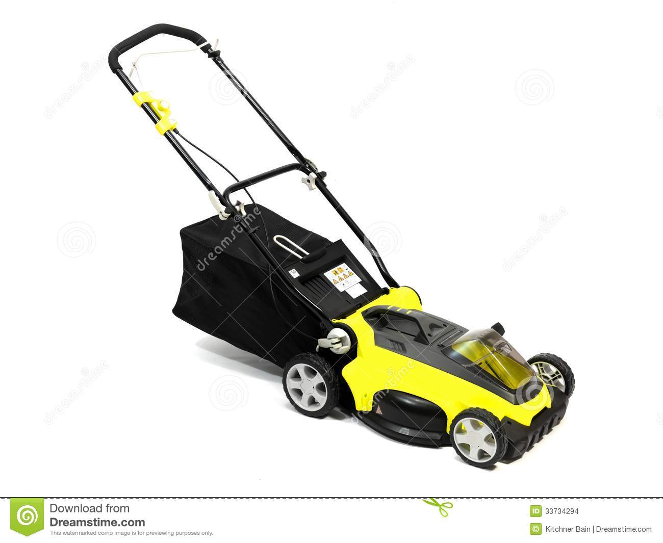 Rechargable Lawn Mower On A White Background Mr No Pr No 2 156 1