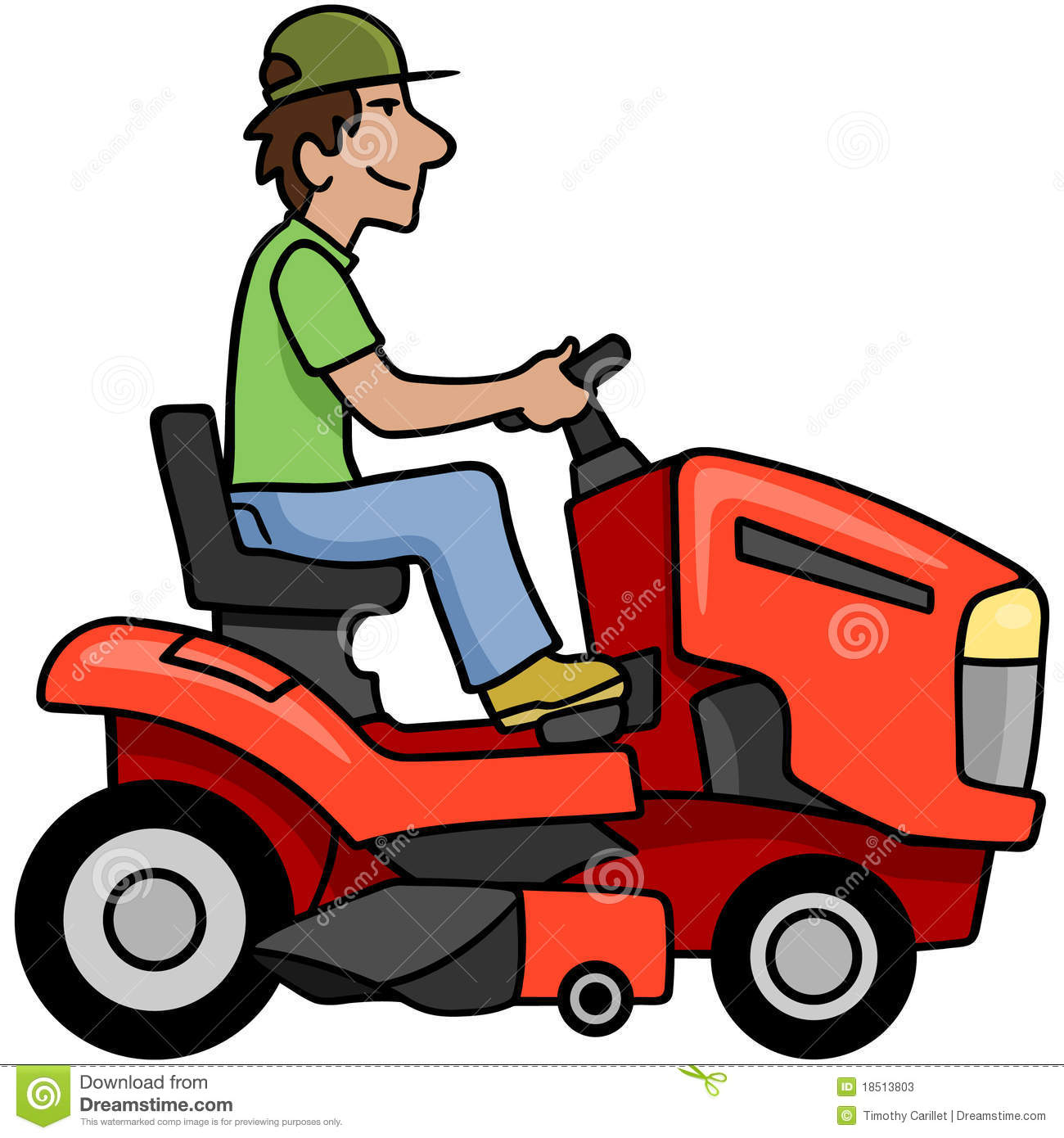 Riding Mower Stock Photos   Image  18513803