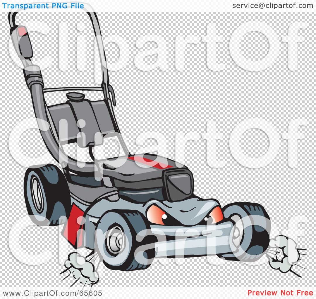 Royalty Free  Rf  Clipart Illustration Of A Mean And Tough Lawn Mower