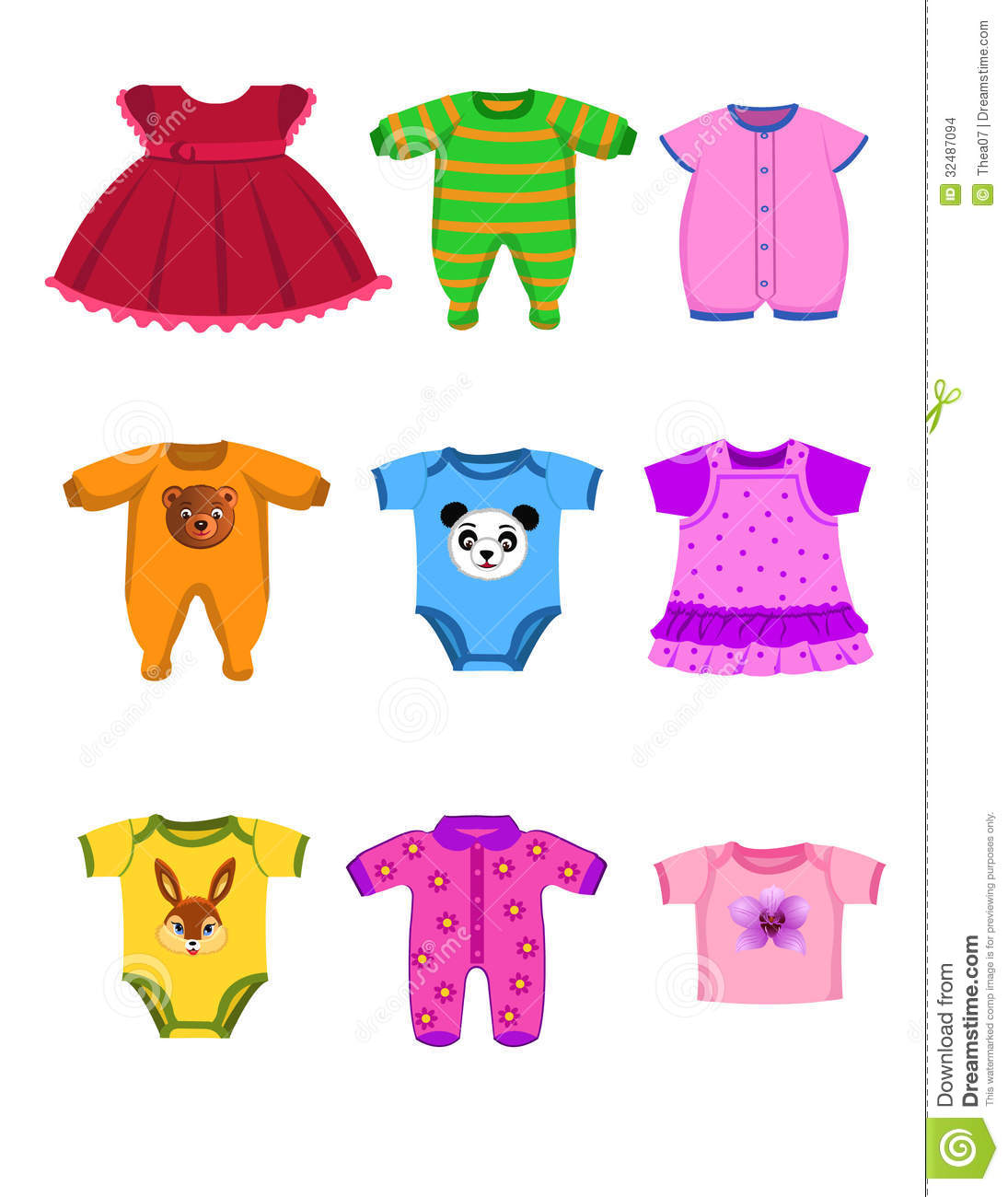 Vector Baby Clothes Isolated On A White Background Clipart