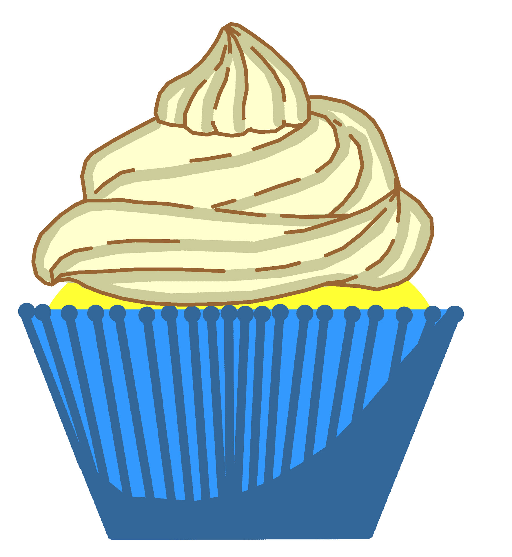 Cupcake With Candle Clipart - Clipart Kid