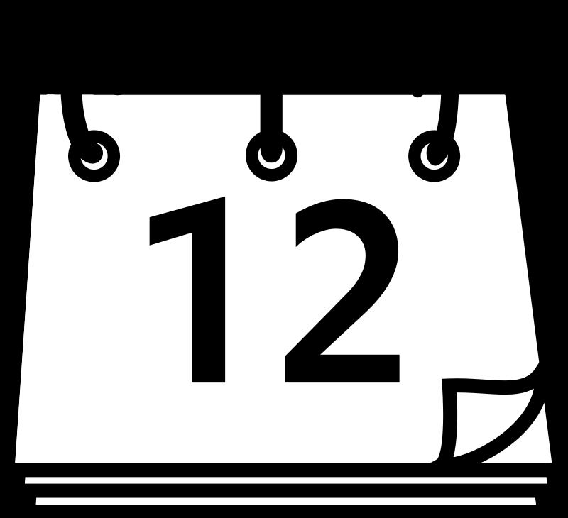 Calendar Black And White Clipart - Clipart Kid