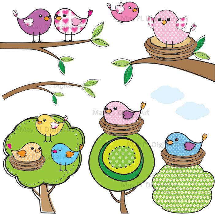 Bird Nest In Tree Clipart - Clipart Kid