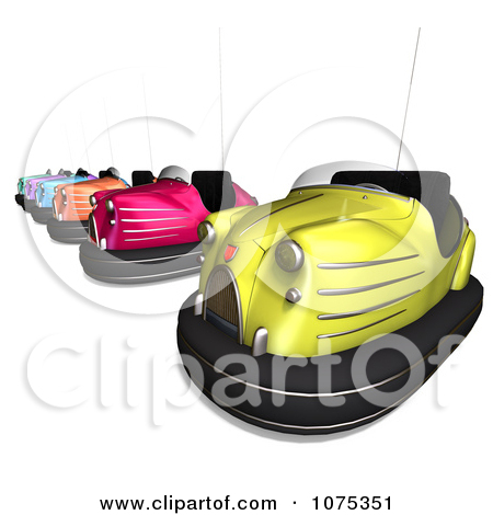 Clipart 3d Bumper Cars 2   Royalty Free Cgi Illustration By Ralf61