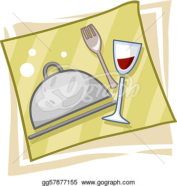 Clipart   Illustration Of Icons Symbolizing The Catering Business