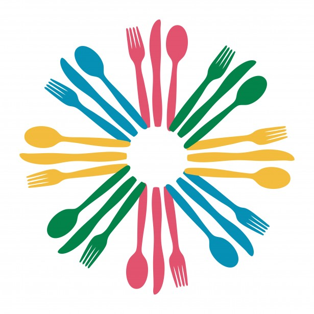 Colorful Cutlery Logo Clipart Free Stock Photo   Public Domain