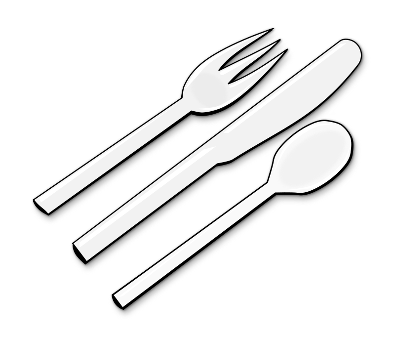 Cutlery By Algotruneman   Knife Fork And Spoon   Place Setting