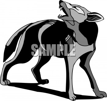 Dog Clip Art Image  Dog Barking And Howling