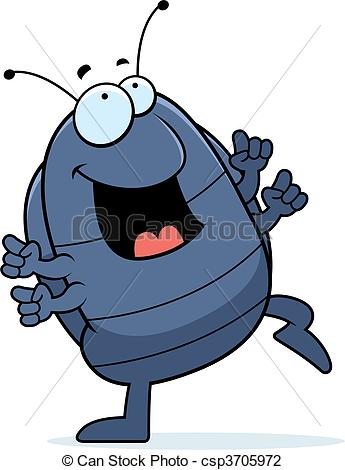 Happy Cartoon Pill Bug Dancing And    Csp3705972   Search Clipart