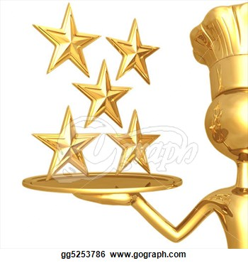 Illustration   5 Star Restaurant Rating  Clipart Drawing Gg5253786