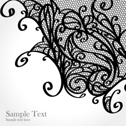 Lace Pattern Background 01 Vector Free Vector In Encapsulated