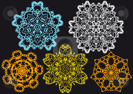 Lace Pattern Vector Stock Vector Clipart Set Of Lace Doilies Vector