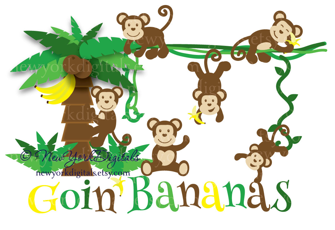 Monkey In Tree Clipart - Clipart Kid