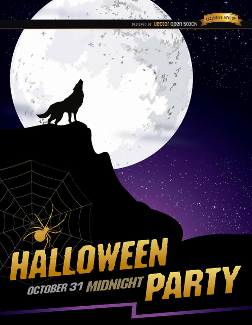 Moon Halloween Poster 101 Halloween Free Vectors For Your Party Poster