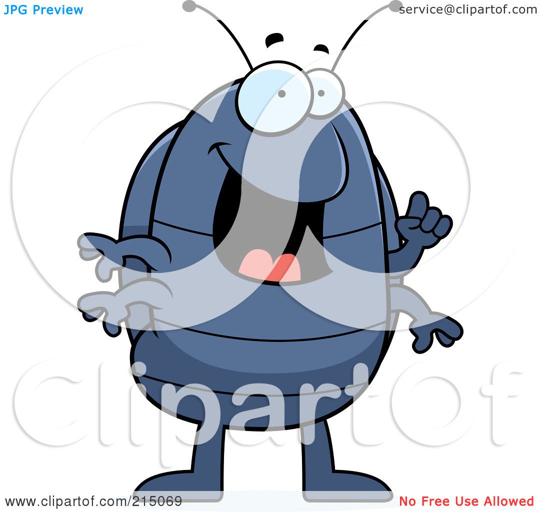 Royalty Free  Rf  Clipart Illustration Of A Pill Bug With An Idea