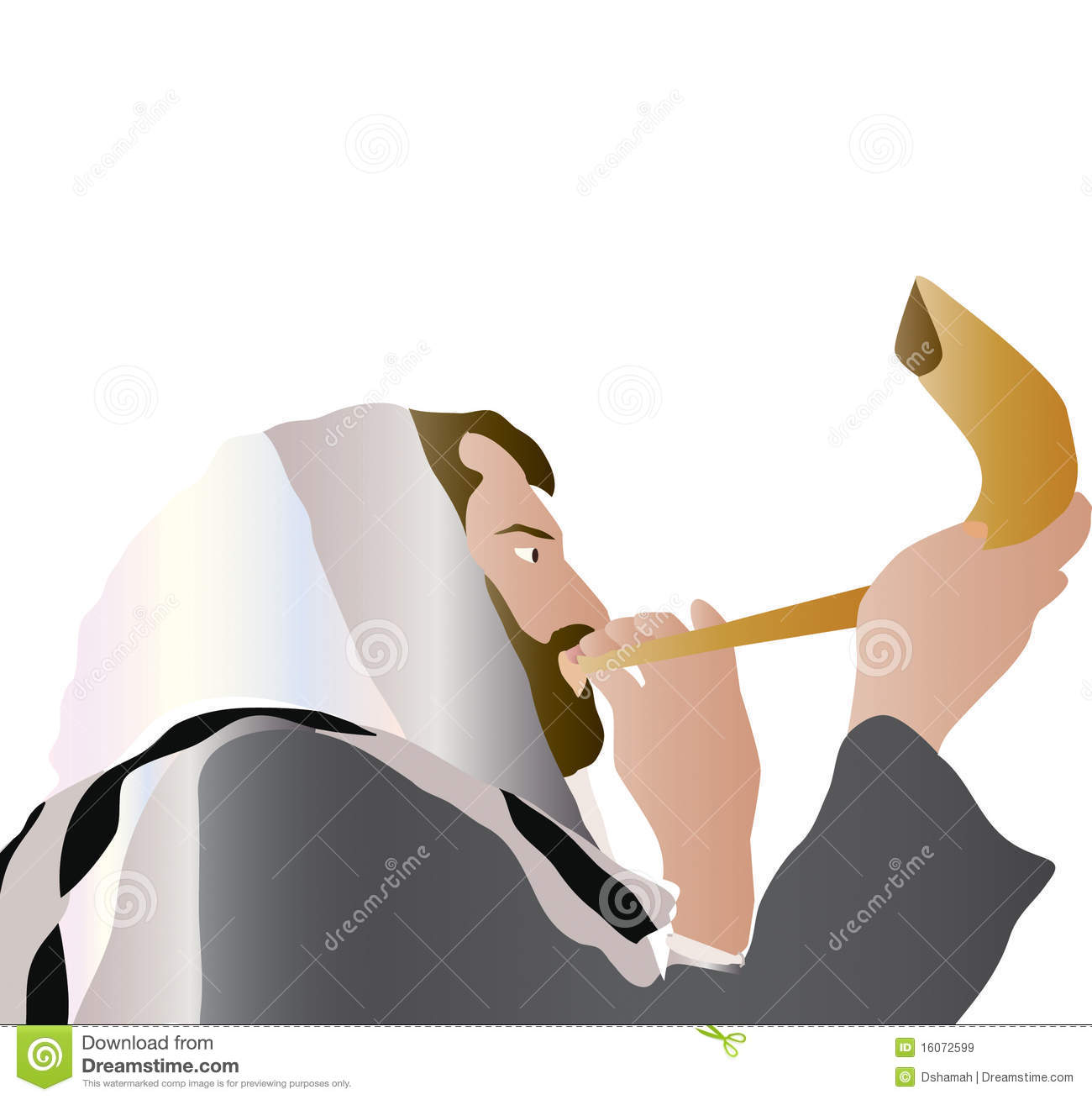 Shofar Clipart Man Blowing Shofar
